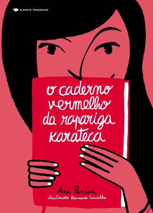 capa o caderno vermelho da rapariga karateca