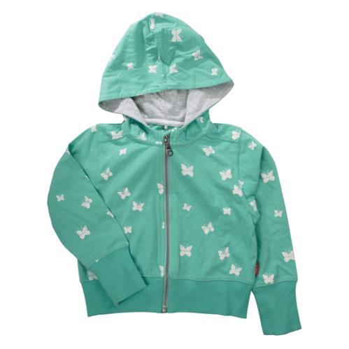 name it casaco hoodie verde com borboletas