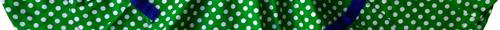 piri piri saia verde com bolinhas pormenor