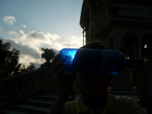 o essencial por de sol azul garrafa de mary kate
