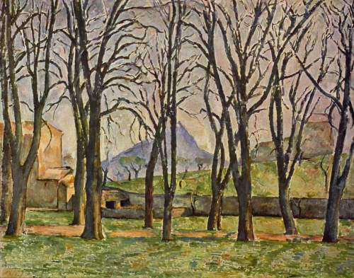 paul cezanne chestnut trees at the jas de bouffan 1887