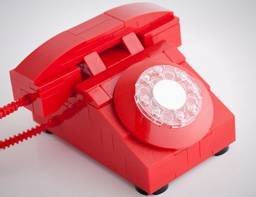 chris mcveigh rotary telephone red